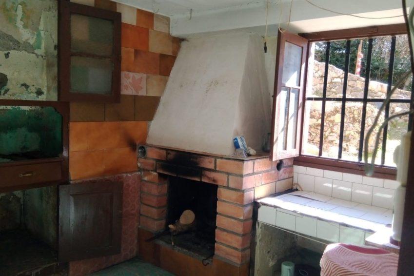 cocina fuego a tierra casa